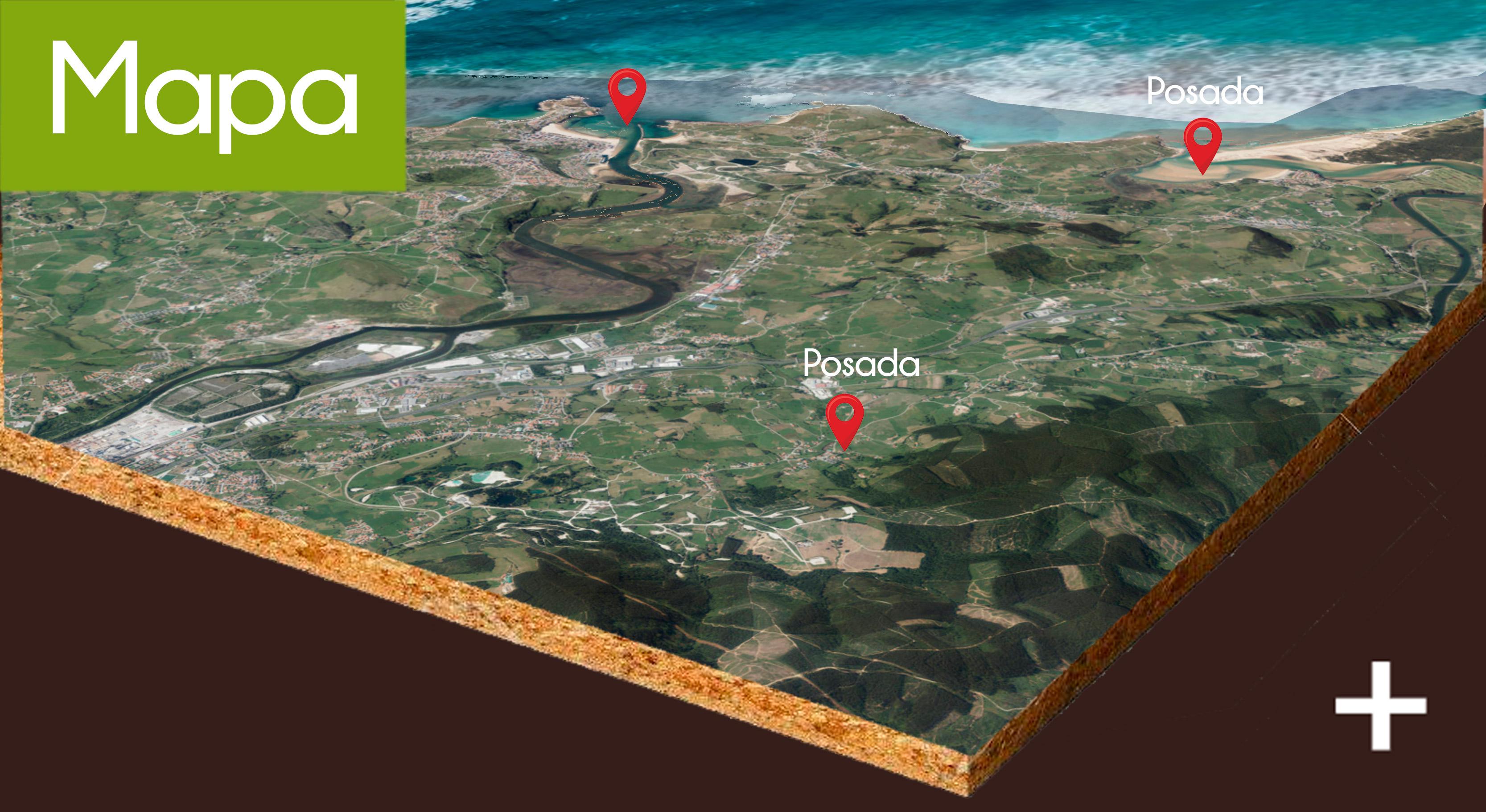 Mapa Posada El cafetal de Rumoroso Cantabria